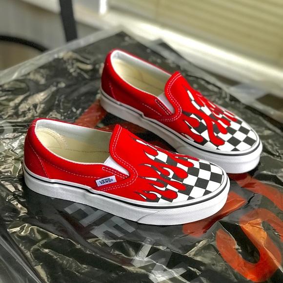 Vans Shoes | Fire Checker Vans Drip